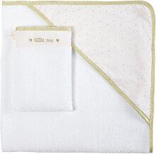 Baby-Badetuch aus weißer Baumwolle