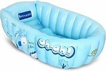 Baby-Badewanne aufblasbare Baby-Badewanne Falten Lendenwirbel Verdickung Kinder Badewanne Neugeborene Baby-Badewanne ( farbe : Blau )