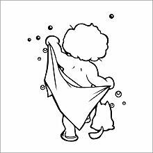 Baby Badezimmer Blase Wandaufkleber Glastür