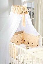 Baby-Betten-Set mit Himmel und Nestchen | 2-TLG |