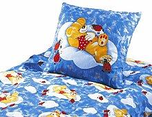 Baby Bettwäsche Renforce Mondbär im himmelblau