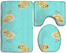 Baby Chicks 3-teiliger Badteppich-Set-Badteppich,