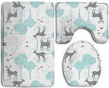 Baby Deer Trees 3-teiliger