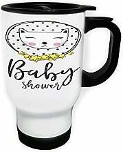 Baby-Dusche Katze Weiß Thermischer Reisebecher