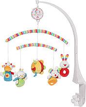 Baby Fehn 70´s Stripes Musik-Mobile mit Softarmen (Brahms Lullaby) [Babyspielzeug]