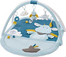 Baby Fehn Little Castle 3-D Activity Spieldecke Drache (Blau-Petrol) [Babyspielzeug]