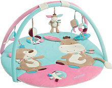 Baby Fehn Monkey Donkey 3-D Activity Spieldecke Esel (Türkis-Pink) [Babyspielzeug]