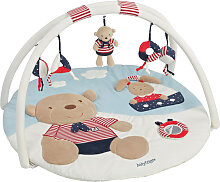 Baby Fehn Ocean Club 3-D Activity Spieldecke Teddy (Weiß-Blau-Rot) [Babyspielzeug]