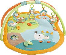 Baby Fehn Sleeping Forest 3-D Activity Spieldecke Igel und Eule (Orange-Grün) [Babyspielzeug]