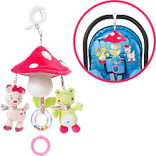 Baby Fehn Sweetheart Mini Musik Mobile Fliegenpilz (Pink-Weiß) [Babyspielzeug]