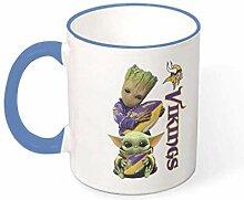 Baby Groot und Hug Vikings Becher Keramik Teetasse