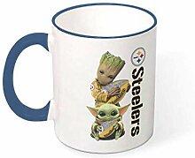 Baby Groot und Yoda Hug Becher Keramik Kaffeetasse
