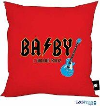 Baby I wanna Rock Rot Design Kissen 45,7x 45,7cm hergestellt in Yorkshire Home Decor tolle Geschenkidee