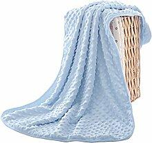 Baby Kuscheldecke Doppelschicht Einschlagdecke Babydecke Wolldecke mit Kleiner Druckblase Bettdecke Blankets für Kinder Schlafzimmer Sofa Auto in alle Jahreszeit 75*100CM