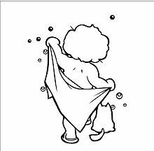 Baby Liebe Dusche Bad Blase Wandaufkleber Glastür