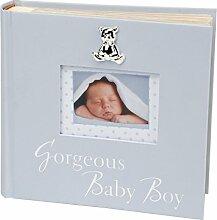 Baby Mädchen Fotoalbum mit 3D-Teddy-Applikation,