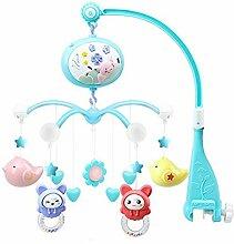 Baby Musical Krippe Mobile mit Lichtern und Musik,