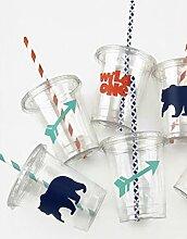 Baby-Partybecher mit Bärenmotiv, 12 Stück,