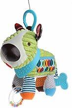 Baby Rassel Bell Pacify Puppen Baby-Kinderwagen