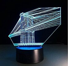 Baby San Francisco Bridge 7 Farben Deko Lampe 3D