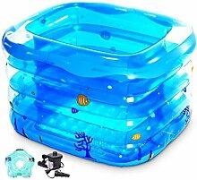 Baby-Swimmingpool Kinder Neugeborenen Swimming Wanne Badewanne Bad Badewanne Kinder aufblasbare Pool (große Dicke)