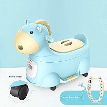 Baby Töpfchen Stuhl Sitz Tier Pferd mit Griffen,