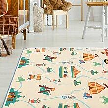 Baby Vivo Premium Spielteppich Circus   Krabbeldecke Kinderspielteppich Spielmatte Playmat Spieleteppich Erlebnisdecke Krabbelmatte Spieldecke   1 cm dicker Kinderteppich XXL 200 x 150 cm