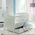 Babybett aus Fichte Massivholz Weiß