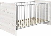 Babybett Cariba Wimex Farbe: Weißeiche/Graphit