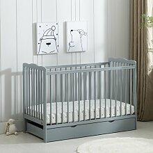 Babybett Drake mit Matratze Harriet Bee Farbe: Grau