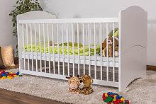 Babybett Gitterbett Schlafgut Buche Massiv weiß