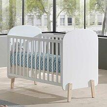 Babybett in Weiß 60x120 cm