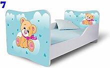 Babybett Kinderbett Bett Schlafzimmer Kindermöbel Spielbett Nobiko Butterfly 160x80 or 140x70 Matratze Lattenrost (160x80, 7)