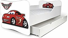 Babybett Kinderbett Bett Schlafzimmer Kindermöbel Spielbett Nobiko Butterfly 160x80 or 140x70 Matratze Lattenrost (140x70, 23)