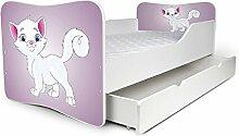 Babybett Kinderbett Bett Schlafzimmer Kindermöbel Spielbett Nobiko Butterfly 160x80 or 140x70 Matratze Lattenrost (140x70, 12)