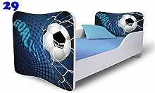 Babybett Kinderbett Bett Schlafzimmer Kindermöbel Spielbett Nobiko Butterfly 160x80 or 140x70 Matratze Lattenrost (160x80, 29)