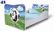 Babybett Kinderbett Bett Schlafzimmer Kindermöbel Spielbett Nobiko Butterfly 160x80 or 140x70 Matratze Lattenrost (160x80, 41)
