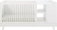 Babybett-Kombination weiß und grau L190 Celeste