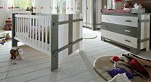 Babybett Laubhütte, 70x140 cm, weiß mit
