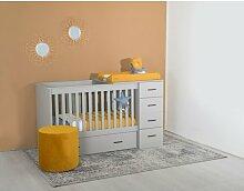 Babybett Memphis Cabino Farbe: Grau
