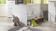 Babybett Mereto, 70x140 cm, Eiche weiß
