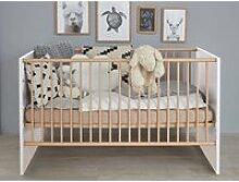 Babybett mit 3 Schlupfsprossen MANISA-19 in Weiß,