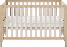 Babybett mit Stäben aus gebleichter Buche- und