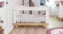 Babybett Monina, 70x140 cm, weiß deckend