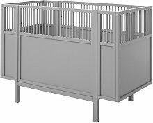 Babybett Retro, 60x120 cm, grau