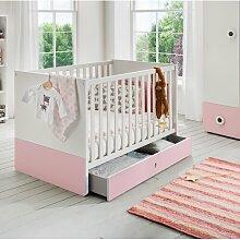 Babybett Töre Wimex Farbe: Weiß/Rosa