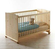 Babybettchen aus Kiefer Massivholz Schlupfsprossen