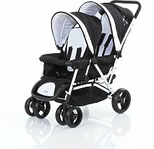 Babycab Tandem Kinderwagen Geschwisterwagen schwarz