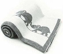 Babydecke / Kuscheldecke - Strickdecke Elefant