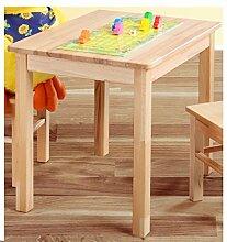 BabyKind Kindertisch und 2 Kinderstühle Kernbuche